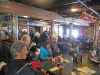 A view of the lunch crown in Trapper Johns