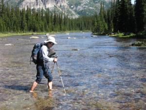 Babel Creek crossing views down stream