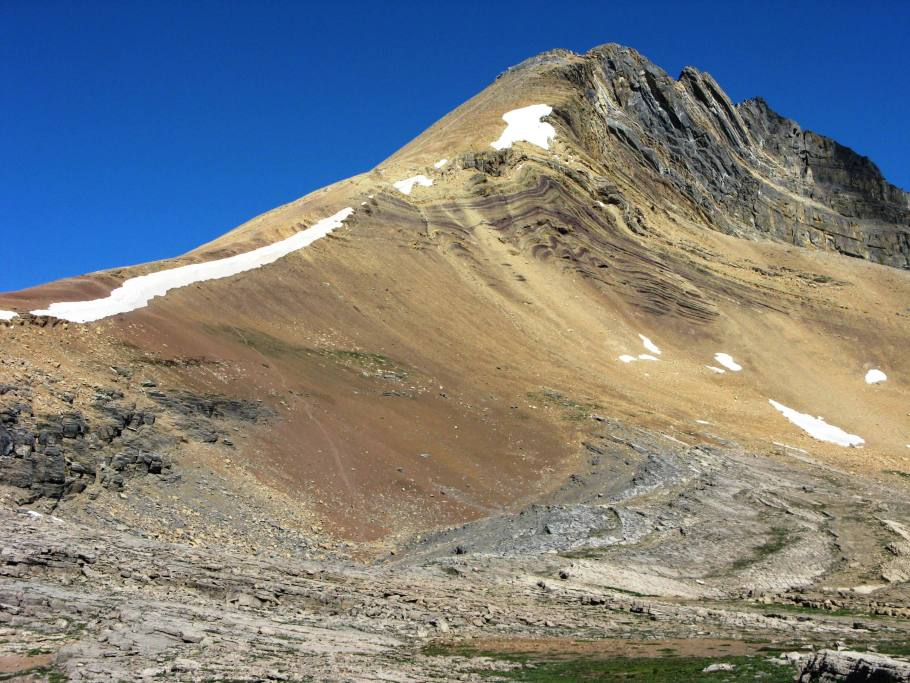 Closer view of Cirque peak from Helen lake