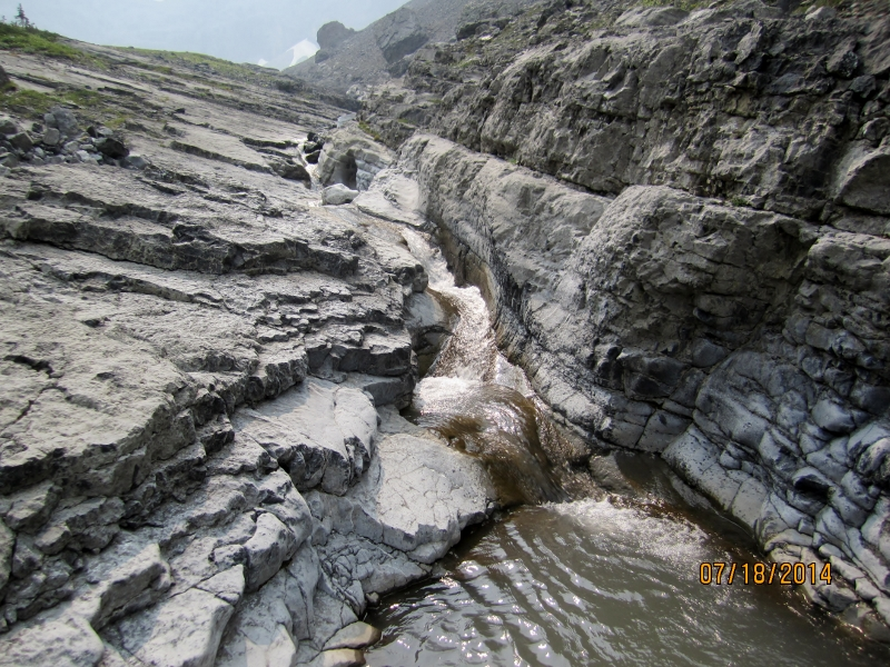 Nice rock formation and creek