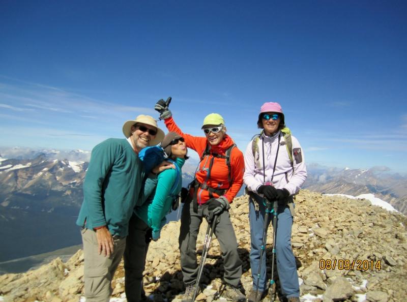 Group shot on summit