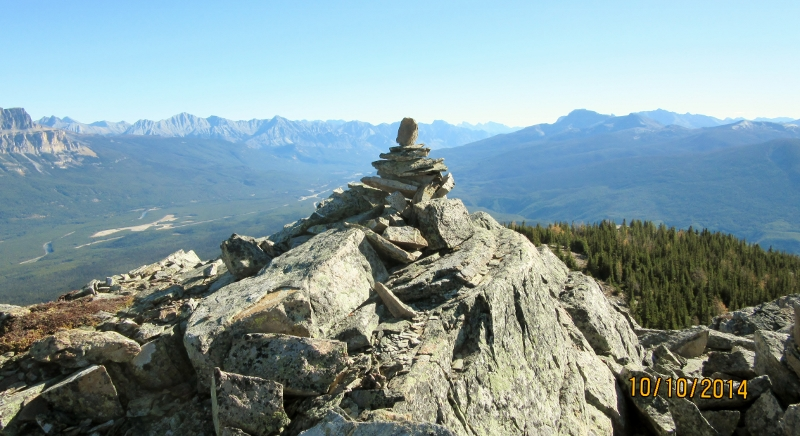 Re-Built summit Cairn