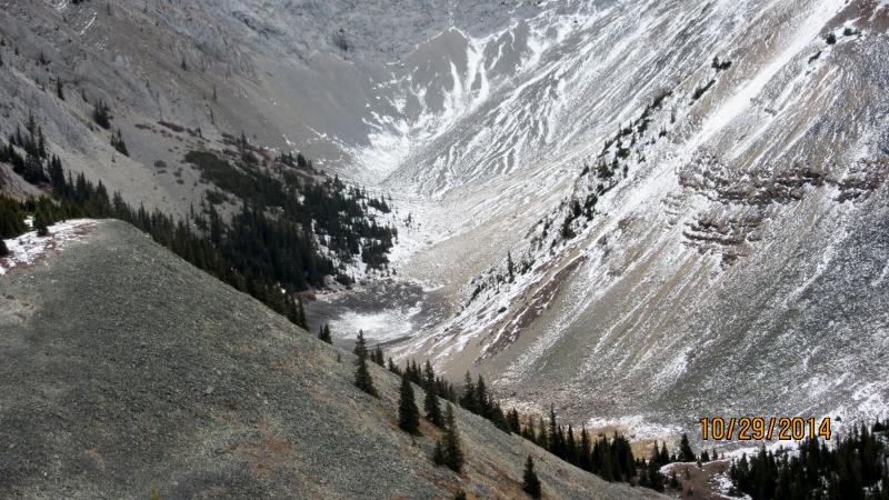 The dry Tarn below