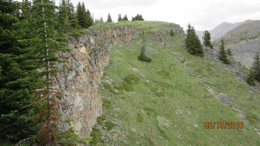 Rock y ridge with Mt McDougall top lrft