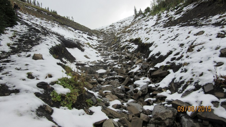 Dry water gully to return by