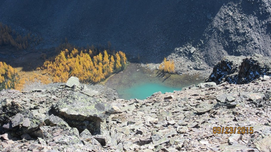Little Temple lake from summit