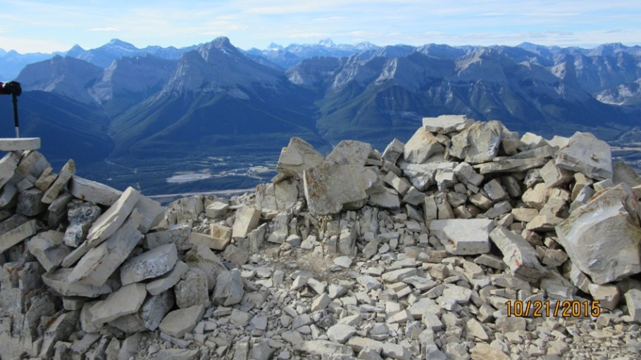 View from a very windy summit