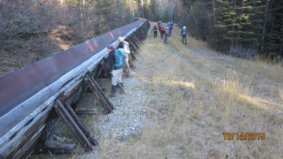 Water Flume on trail to Rawson Ridge -