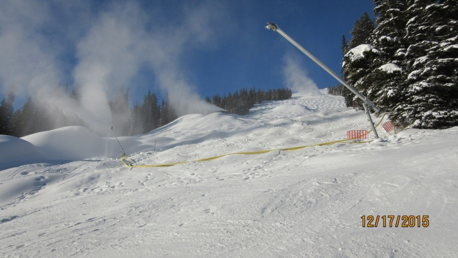 Cold temperatures and snow making in full swing on Ptarmigan run
