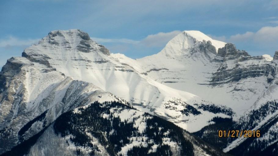 Close up of Mt Inglismaldie & Mt Girouard