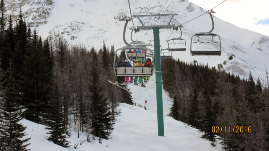Stuck on Larch chair lift