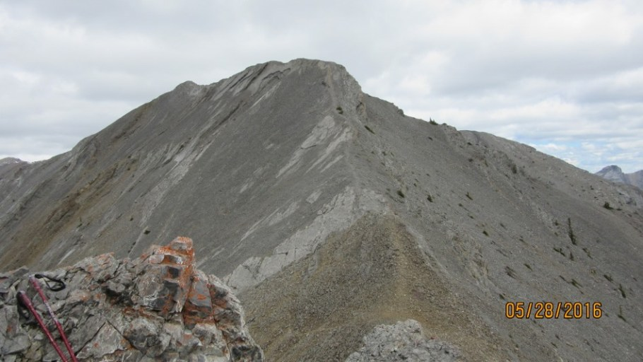 The ridge ahead from the pinacles