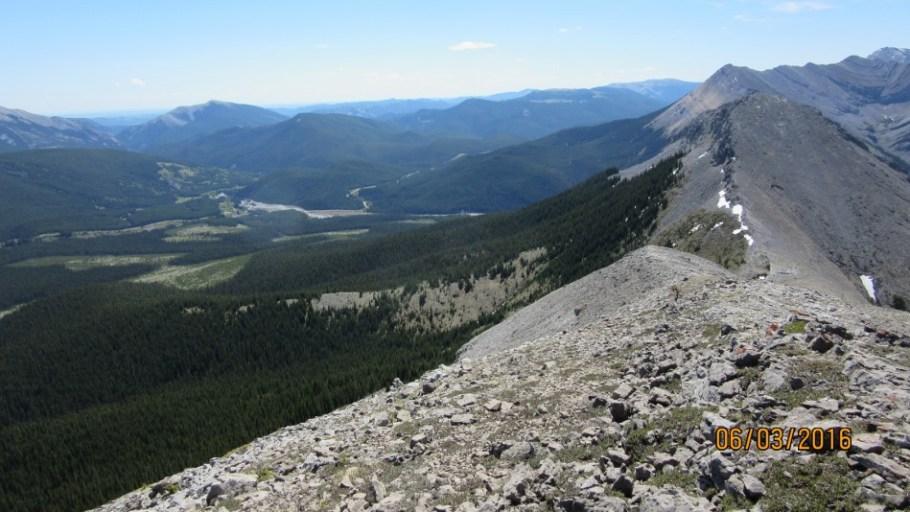 Ridge down from Peak 3 to Peak 4