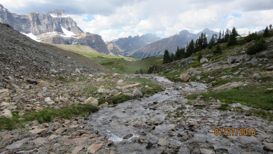 The stream flowing down into Mosquito Creek