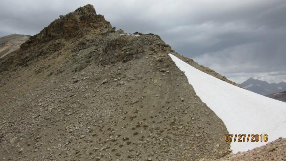 Remaining snow at N.Molar Pass