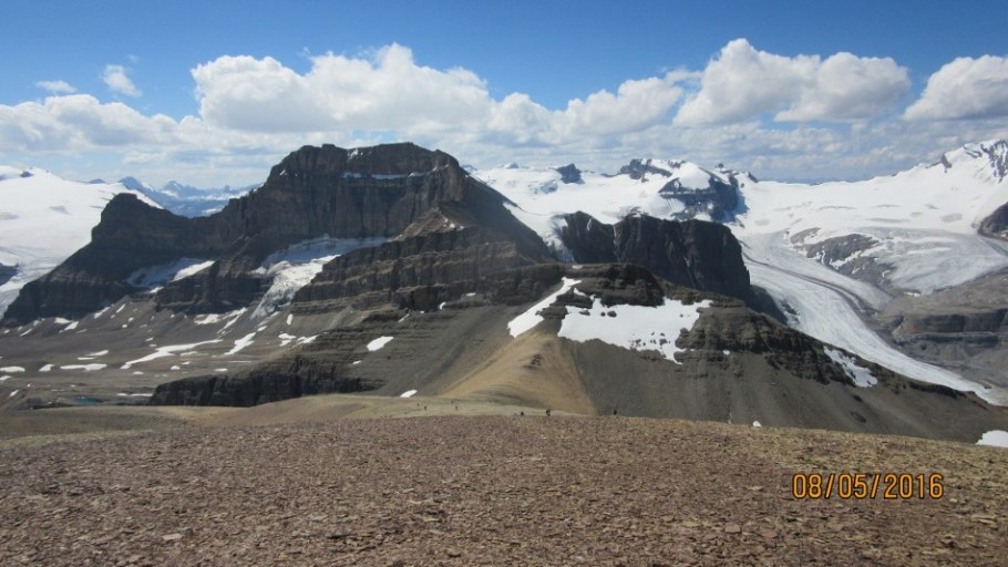 Peyto Glacier Mt Thompson and Portal Peak