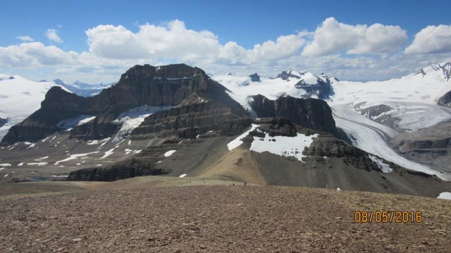 Peyto Glacier Mt Thompson and Portal Peak