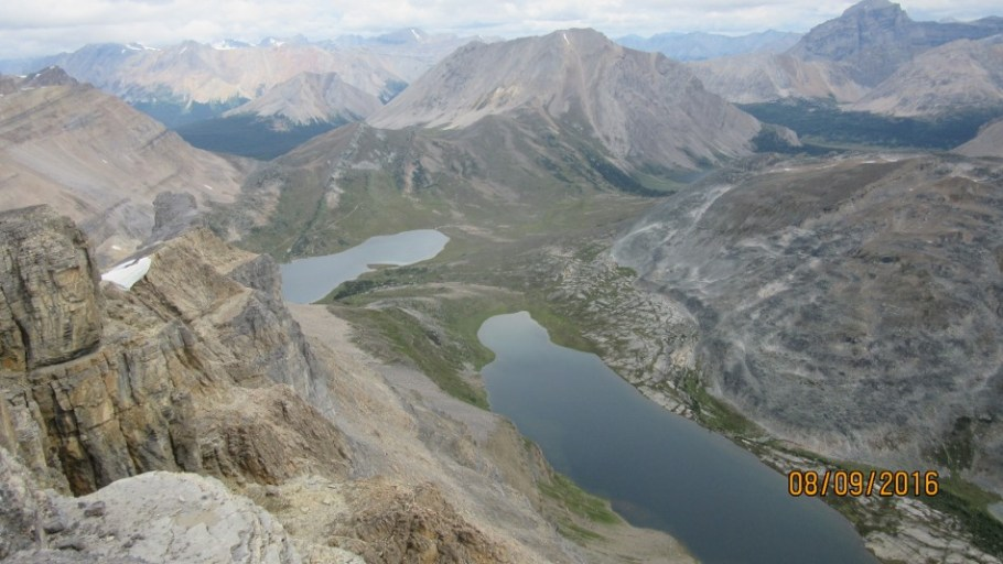 Fossil Mt with Ptarmigan Lake and Redoubt Lake