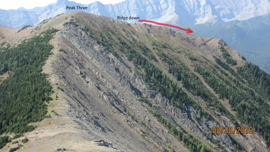 Peak Three and ridge out