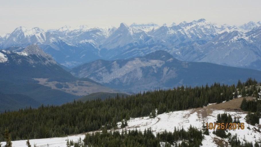 Lower ridge trail below