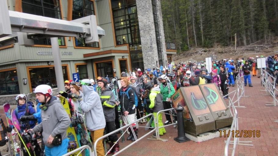 Large crowd at the Gondola Station On Sat Nov12