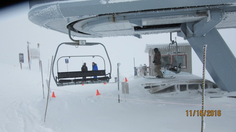 I spoke to this gentleman getting off the Divide chair her is your picture