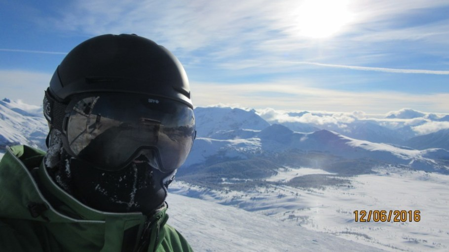 Selfie at the top of the Divide