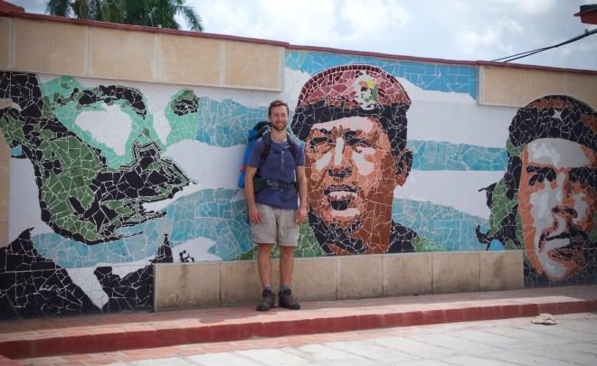 José Marti, Fidel Castro, Che Guevarra, and myself