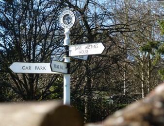 Signpost in Chawton.