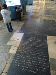 Miles from her home, Jane is buried in Winchester cathedral.