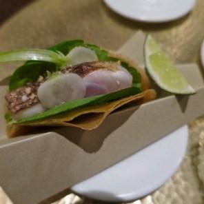 #4 horse mackerel mini taco, cherry