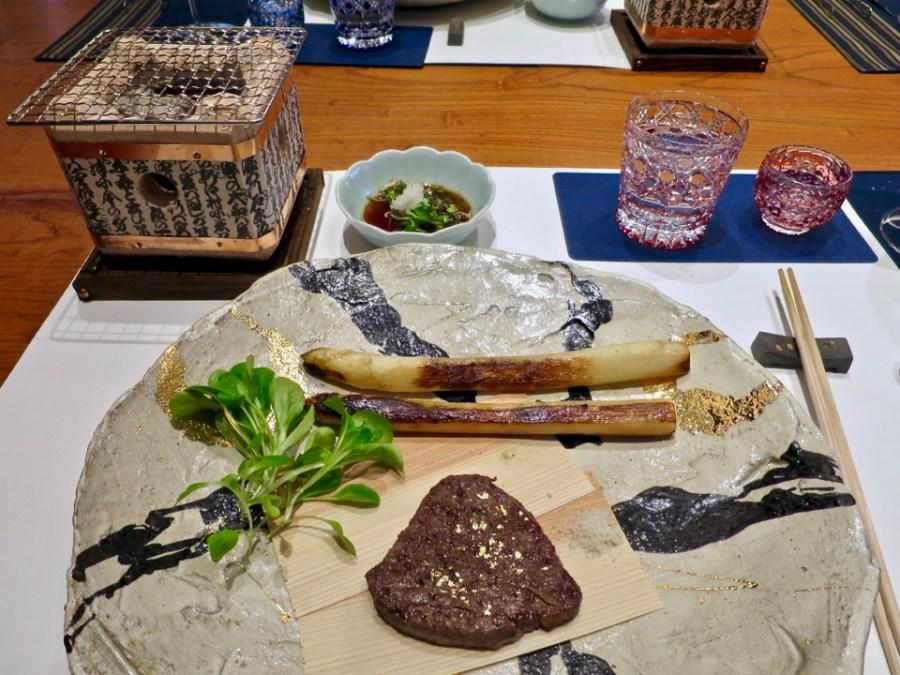 A5 Wagyu, white asparagus, truffle salt