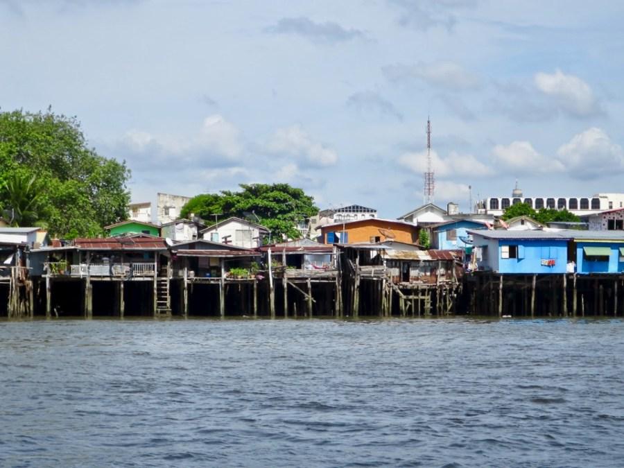 Houses on stilts - Bangkok, Thailand