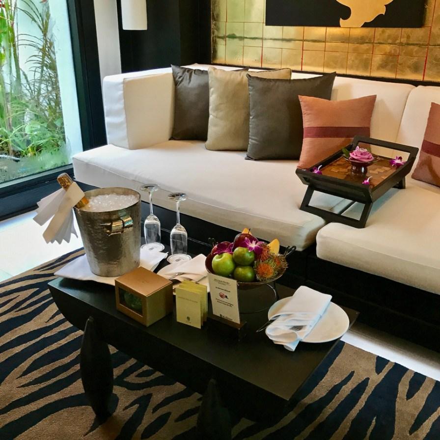 Bayan Tree Phuket - Honeymoon welcome gifts