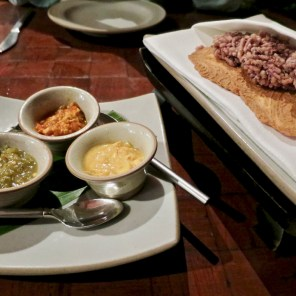 Banyan Tree Phuket - Saffron Restaurant - complementary curry dips