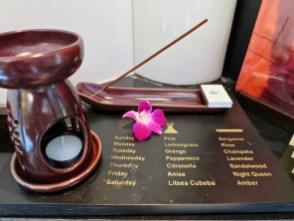 Banyan Tree Phuket - Daily changing incense and oils