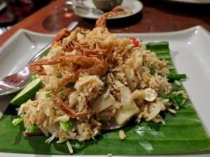 Banyan Tree Phuket - Saffron Restaurant - Soft shell crab fried rice