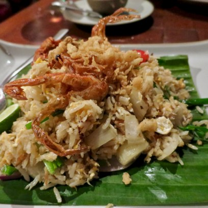 Banyan Tree Phuket - Saffron Restaurant - Soft shell crab fried rice