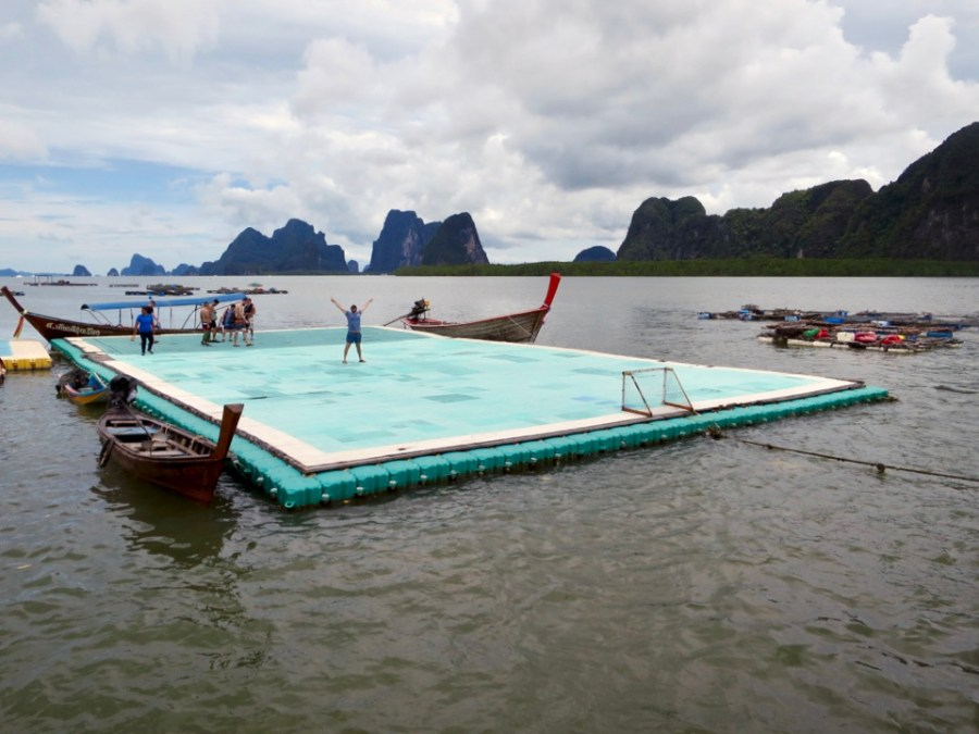 Stop 4: Floating football field at Koh Panyi Muslim Village