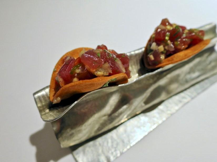 Gaggan - fish tacos