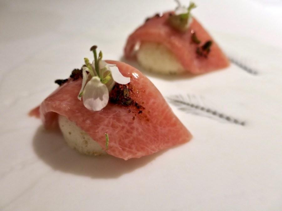Gaggan - chutoro sushi