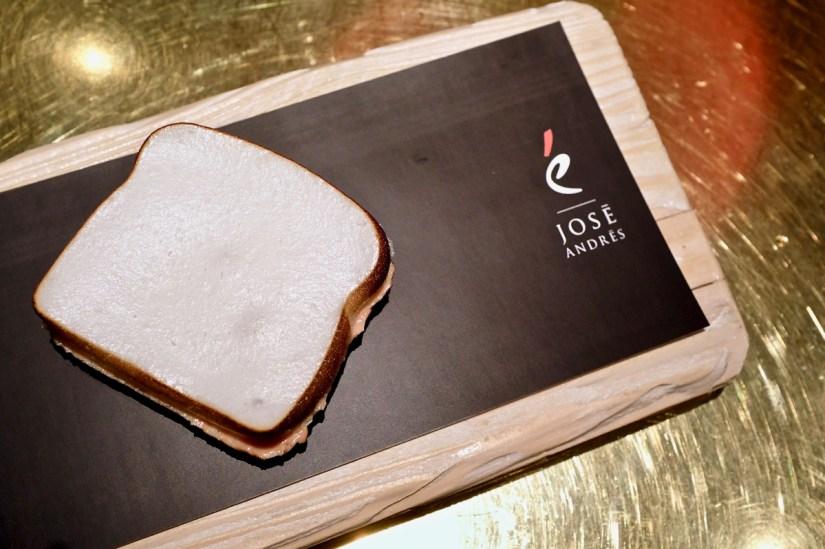 é by José Andrés - Wonder Bread - apple meringue with foie and pear filling