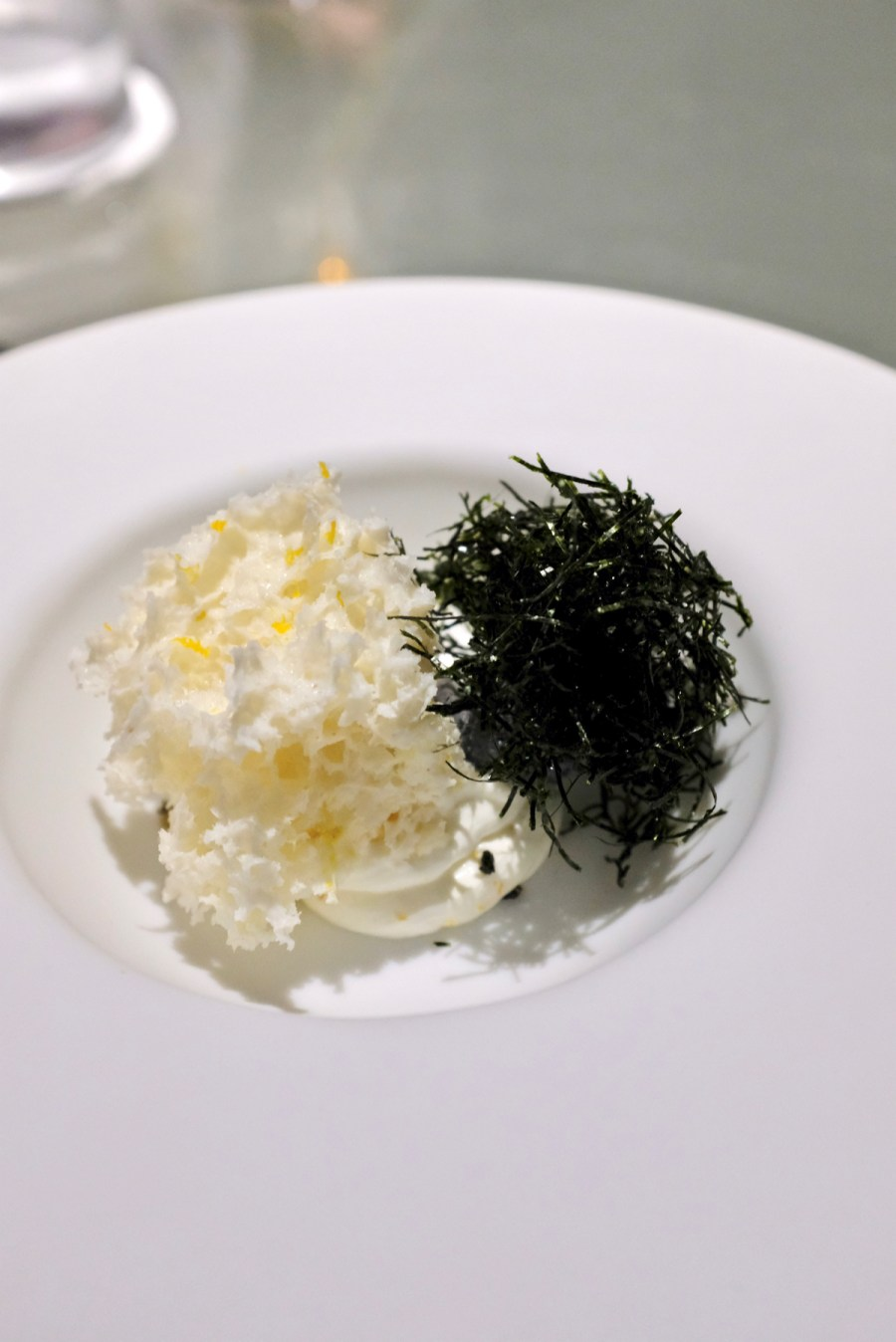 Enigma Concept - Furikaki - yogurt cream with yuzu, black sesame ice cream
