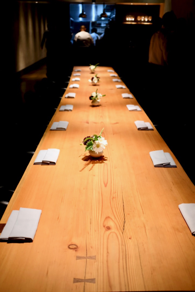 Maum - The communal dining table with 18 seats that night