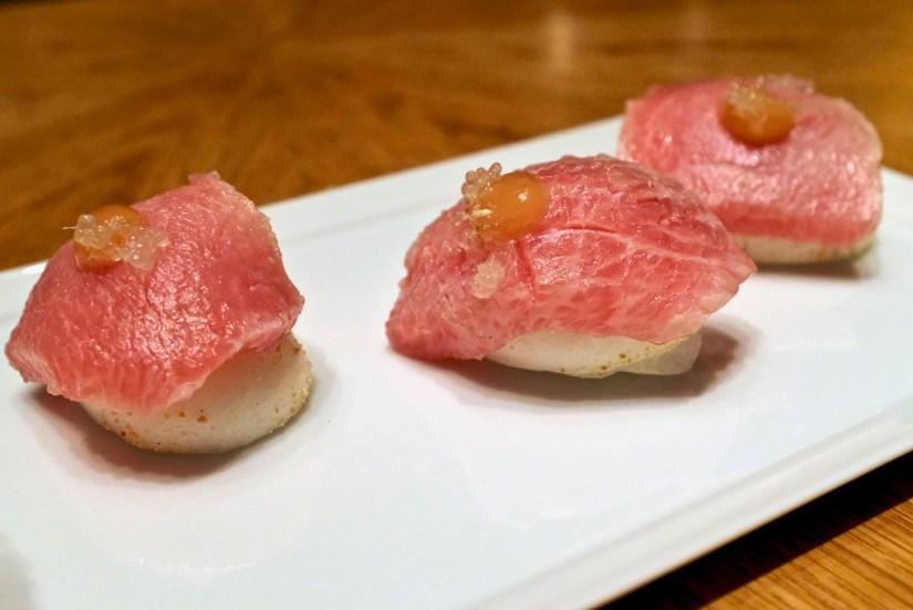 Gaggan at Eight Tables - Toro Sushi