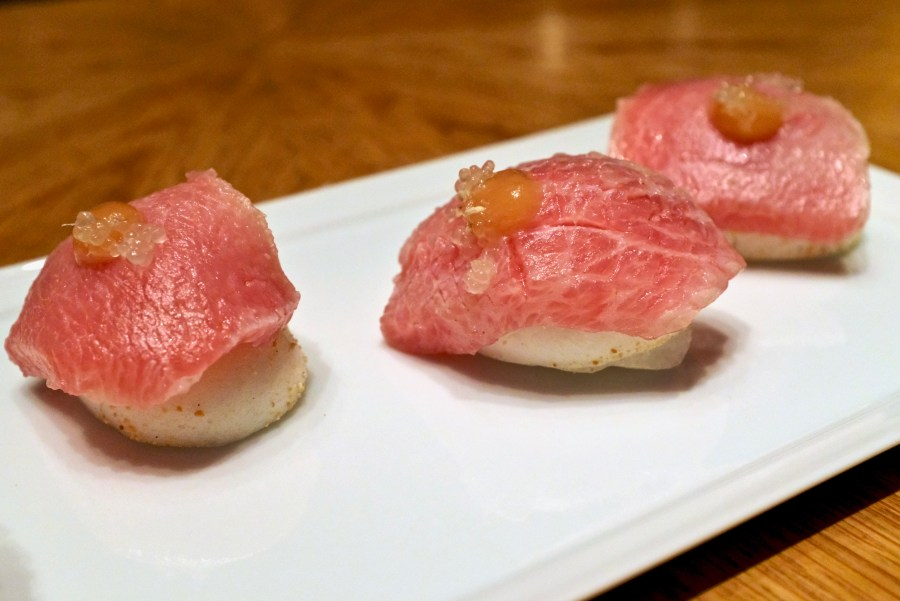 Gaggan at Eight Tables - Toro Sushi