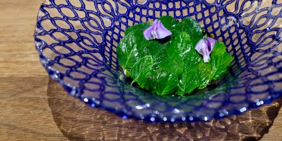 Dialogue LA - Salad of Cucumber and Mint, peanut, long bean, raw garlic