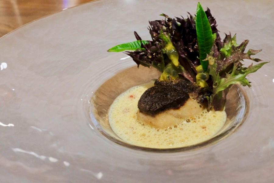 Dialogue LA - Foie gras, rutabaga, passionfruit, mustard, lemon verbena