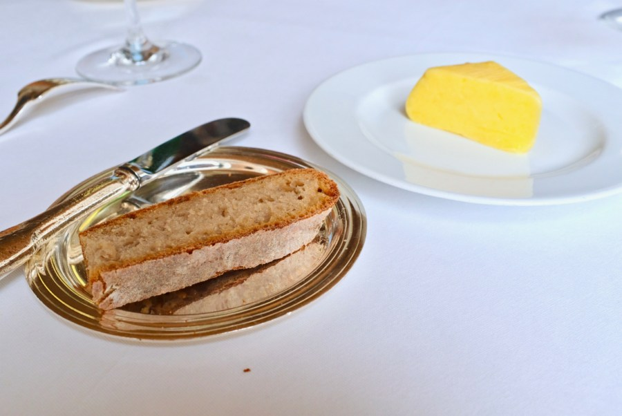 Arpege - Bread (inconsistent country loaf) and butter