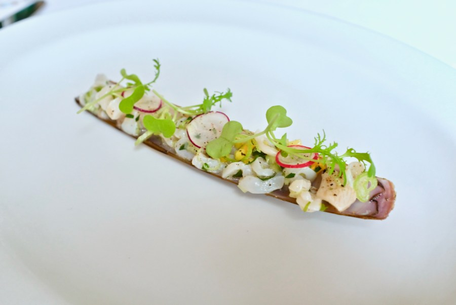 Arpege - Razor Clam, zucchini, elderflower